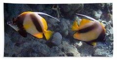 Red Sea Bannerfish 2 Beach Towel