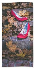 Red Shoes II Beach Towel