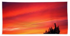 Beach Towel featuring the photograph Red Skies At Night  by Nick Gustafson