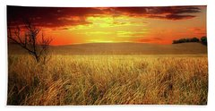 Red Skies Beach Towel