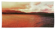 Beach Towel featuring the photograph Red Sky After Storms  by Chriss Pagani