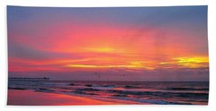 Red Sky At Morning Beach Towel