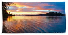 Red Sky At Night Beach Towel