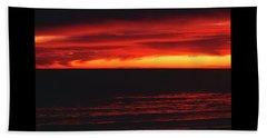 Red Sky At Night Beach Sheet