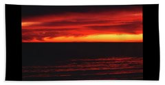 Red Sky At Night Beach Sheet