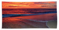 Red Sky In Morning Beach Towel