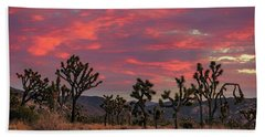 Red Sky Over Joshua Tree Beach Towel