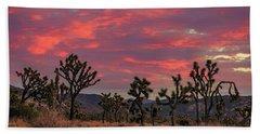 Red Sky Over Joshua Tree Beach Towel