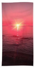 Red Sky Sunset Beach Towel