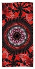 Red Spiral Infinity Beach Sheet