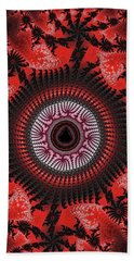 Red Spiral Infinity Beach Towel