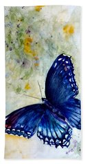 Red Spotted Purple 1 Beach Towel by Beverley Harper Tinsley