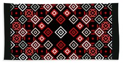 Red Squared Beach Towel