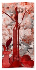 Red Stain Still Life Beach Towel