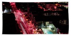 Red Streets Beach Towel