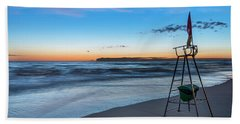 Red Sun In The Sunset Beach - Spiaggia Al Tramonto Beach Towel