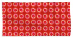 Beach Towel featuring the painting Red Sun by Kym Nicolas