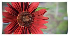 Red Sunflower Beach Sheet