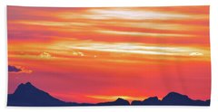 Red Sunrise Beach Towel
