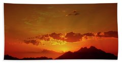Red Sunset In Africa 2 Beach Towel