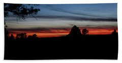 Beach Towel featuring the photograph Red Sunset Strip by Jason Coward