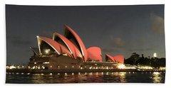 Red Sydney Opera House Beach Towel
