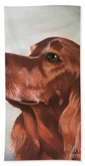 Red The Irish Setter Beach Sheet
