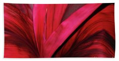 Red Ti Leaf Plant - Hawaii Beach Towel