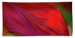 Red Ti Leaves 01 Beach Towel