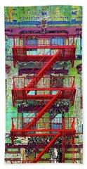Beach Towel featuring the mixed media Red by Tony Rubino