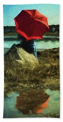 Red Umbrella Beach Sheet