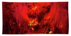Red Universe Beach Towel