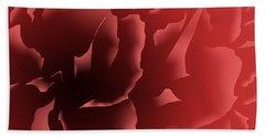 Red Velvet Peony Beach Towel