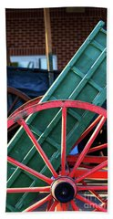 Red Wagon Wheel Beach Sheet