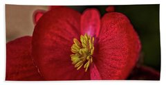 Red Wax Begonia Beach Towel