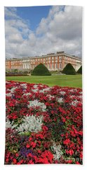 Red White And Blue At Hampton Court Beach Towel