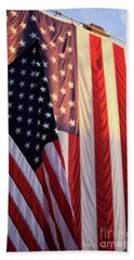 Beach Towel featuring the photograph Red White And Blue by John S