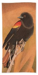 Red-winged Blackbird 3 Beach Towel