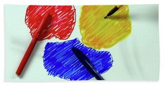 Red Yellow Blue Beach Sheet