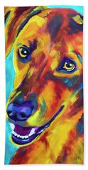 Redbone Coonhound - Yellow Beach Towel
