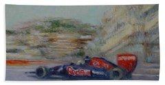 Redbull Racing Car Monaco  Beach Towel