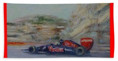 Redbull Racing Car Monaco  Beach Towel