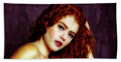 Redhead ... Beach Towel