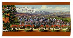 Redlands Greetings Beach Towel