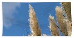 Reeds Against Sky Beach Towel