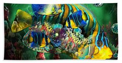 Reef Fish Fantasy Art Beach Towel