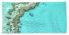 Reef Textures Beach Towel by Az Jackson