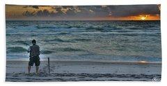 Reeling In The Sun Beach Towel