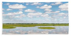 Reflected Clouds - 02 Beach Towel