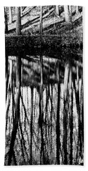 Reflected Landscape Patterns Beach Sheet by Carol F Austin